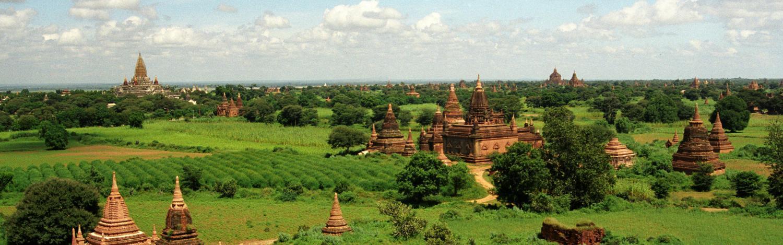 Udsigten fra Shwesandaw Paya over Bagan (Myanmar)